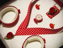 Schmuckset: Red Polka Dots