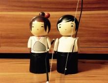 2 Kyudo Kokeshi